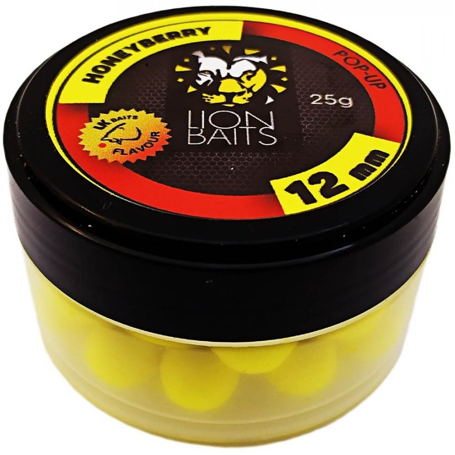 Бойлы плавающие Lion Baits   HoneyBerry 12мм 25 г (Мед-земляника)
