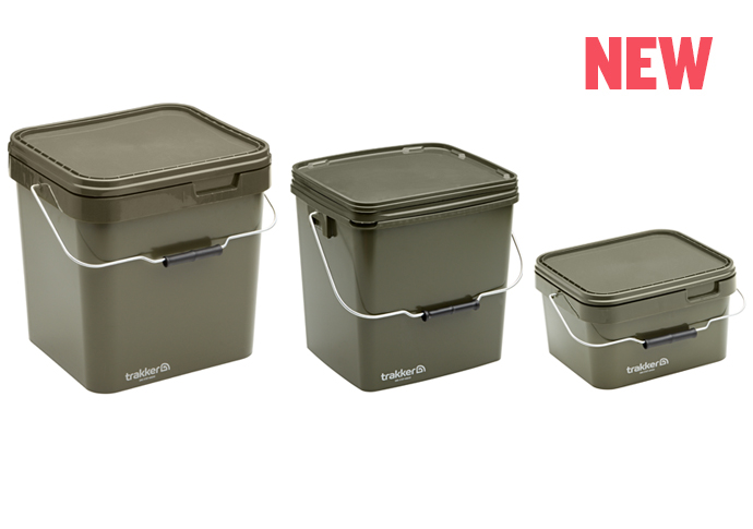 Квадратное ведро для прикормки Trakker Olive Square Containers 17л