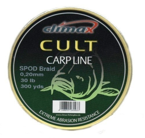 Плетеный шнур для спода Climax CULT Spod Braid  274м 20lb/0,16мм (Желтый)